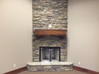 Interior Fireplace using Gran'ide Stone Works products.