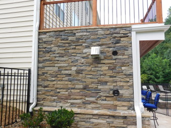Outdoor Living Space Stone by Gran'ide Stone Works of Campobello, South Carolina.