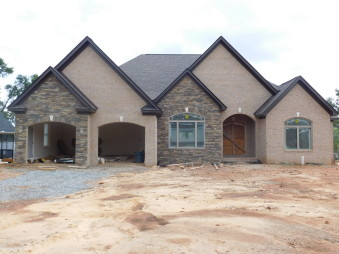 Exterior Stone by Gran'ide Stone Works on residential home.